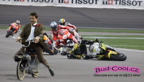 Mr. Bean na motorce